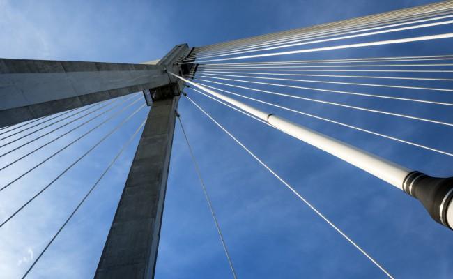 Modern bridge abstract architecture